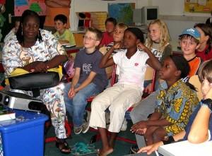 Besuch aus Afrika in unserer Schule